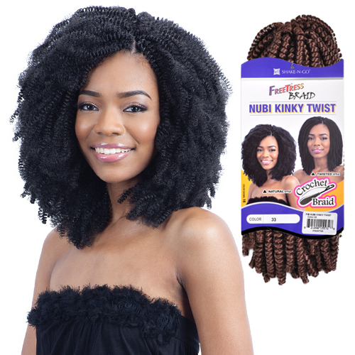 Freetress Synthetic Hair Crochet Braids Nubi Kinky Twist - SamsBeauty