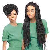 Outre Synthetic Braided Lace Front Wig XPression Reggae Twist Large