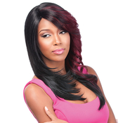 Sensationnel Synthetic Lace Front Wig Empress Edge Natural Curved Part Teena