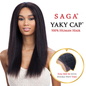 Saga Remy Human Hair Lace Front Wig Yaky Cap Lace 22