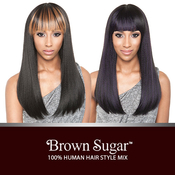 ISIS Human Hair Blend Wig Brown Sugar BS111