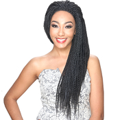 Royal Sis Synthetic Braided Lace Front Wig Afro Lace Braid Senegalese