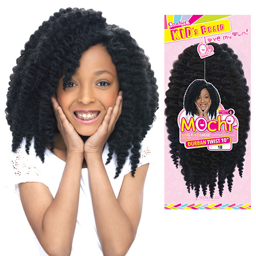 Harlem125 Synthetic Hair Crochet Braids Mochi Durban Twist 10 ...