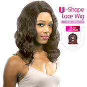 New Born Free Human Hair Blend Lace Front Wig 4X4 XL Magic Lace UShape Lace Wig MLUH97