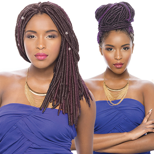 Collection Synthetic Hair Crochet Braids 2X Havana Mambo Faux Locs ...