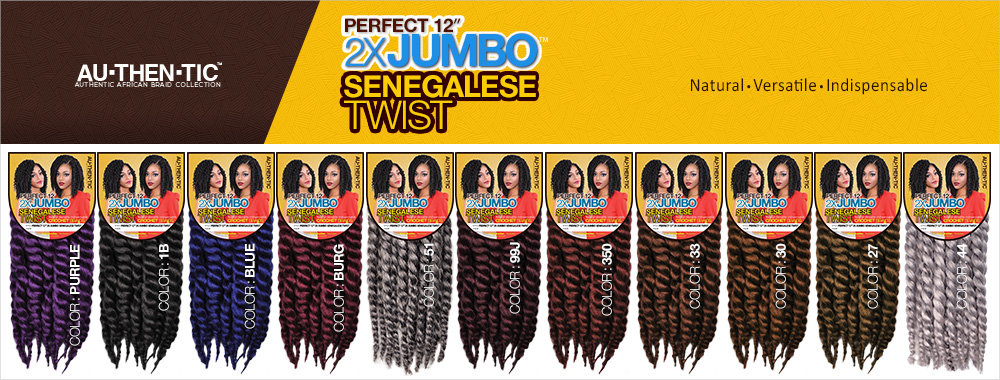 Authentic Synthetic Hair Crochet Braids Perfect 12 2X Jumbo ...
