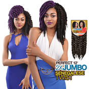 Authentic Synthetic Hair Crochet Braids Perfect 12 2X Jumbo Senegalese Twist