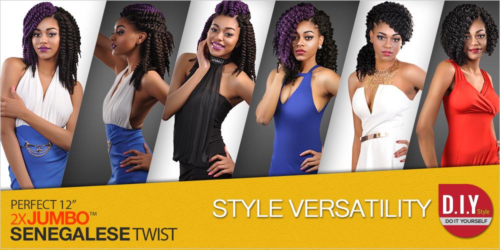 Authentic Synthetic Hair Crochet Braids Perfect 12 2X Jumbo ...