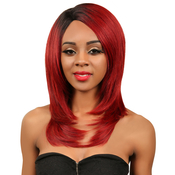 Janet Collection Synthetic Lace Front Wig Natural Super Flow Invisible Deep Part Lace Grace