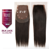 Outre Remy Human Hair Weave Velvet Silk Lace Closure 12