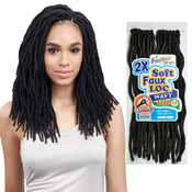 FreeTress Synthetic Hair Crochet Braids 2X Soft Wavy Faux Loc 12