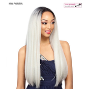 Its A Wig Synthetic Hair Half Wig HW Portia