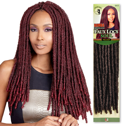 Crochet Hair Over Locs : Boss Synthetic Hair Crochet Braids Bomba Dreadlocks Faux Locs Soul