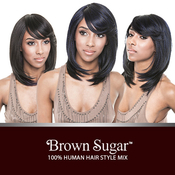 ISIS Human Hair Blend Wig Brown Sugar BS112