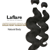 La Flare Unprocessed Brazilian Virgin Remy Human Hair Weave Natural Body