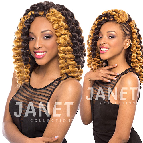 Janet Collection Synthetic Hair Crochet Braids Havana 2X Mambo Bouncy ...