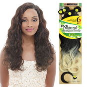 Janet Collection Synthetic Hair Weave Noir Brazilian Natural S Wave 6Pcs