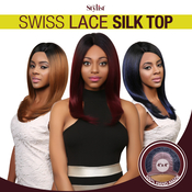 The Stylist Synthetic Lace Front Wig 4x4 Swiss Lace Silk Top Perfect Layers