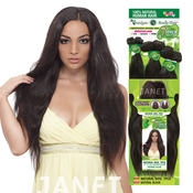 Janet Unprocessed Brazilian Human Hair Weave 1 Pack Solution Natural Wvg 7Pcs