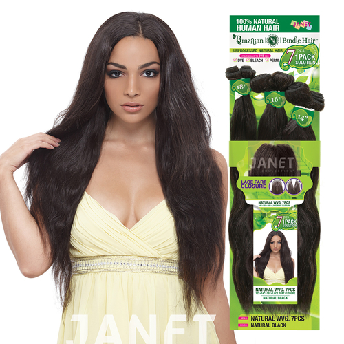 Janet unprocessed brazilian human hair weave 1 pack solution janet unprocessed brazilian human hair weave 1 pack solution natural wvg 7pcs pmusecretfo Images