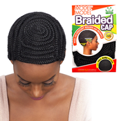 ModelModel Braided Cap For Crochet Braid And Weaves Full Bang Pattern with Comb and Adjustable Strap