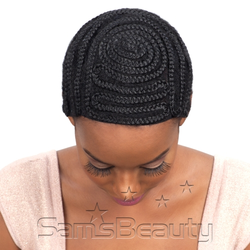 Crochet Braids Cap : ModelModel Braided Cap For Crochet Braid And Weaves Full Bang Pattern ...