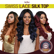 The Stylist Synthetic Lace Front Wig 4x4 Swiss Lace Silk Top CurlALicious
