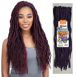 Model Synthetic Hair Crochet Braids Glance 2x Soft Medium Faux Loc Lite Wavy 18