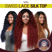 The Stylist Synthetic Lace Front Wig 4x4 Swiss Lace Silk Top Paradise Wave