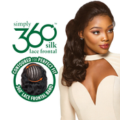 Outre Simply NonProcessed Human Hair Weave 360 Silk Base Lace Frontal Closure Body 14~16