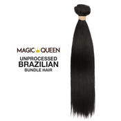 Magic Queen Unprocessed 100 Virgin Human Hair Brazilian Bundle Hair Weave 7A Nautral Straight