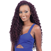 Model Model Synthetic Hair Braids Glance 2X Soft Faux Locs Curly 16