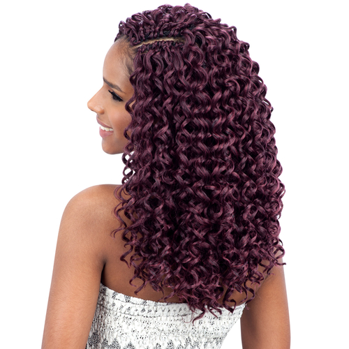 Crochet Hairstyles With Gogo Curl : FreeTress Synthetic Hair Crochet Braids GoGo Curl 12 - SamsBeauty