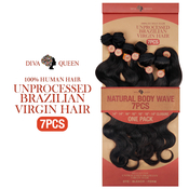 Diva Queen 100 Virgin Human Hair Unprocessed Brazilian Weave 7A Natural Body Wave 7Pcs