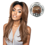 ISIS Human Hair Blend Lace Front Wig Brown Sugar 13X4 Frontal Lace BSF01