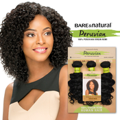 Sensationnel Unprocessed Peruvian Virgin Remy Human Hair Weave Bare AMP; Natural Bohemian 10S 3Pcs
