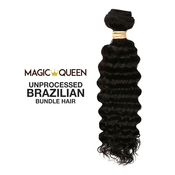 Magic Queen Unprocessed 100 Virgin Human Hair Brazilian Bundle Hair Weave 7A Natural Deep Wave