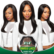 Outre Simply NonProcessed Brazilian Human Hair Lace Front Wig 4X4 Swiss Lace Natural Straight