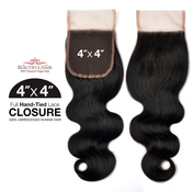 Beautiful Hair Unprocessed Brazilian Remy Human Hair Weave HandTied 4X4 Lace Parting Closure Body