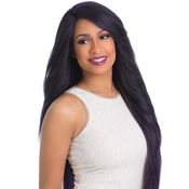 Sensationnel Synthetic Lace Front Wig Empress Edge Natural Curved Part Leslie