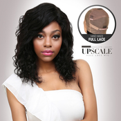 UpScale 100 Virgin Remi Human Hair Hand Made Full Lace Wig Deep Wave 16