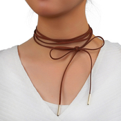 Suede Wrap Choker Necklace