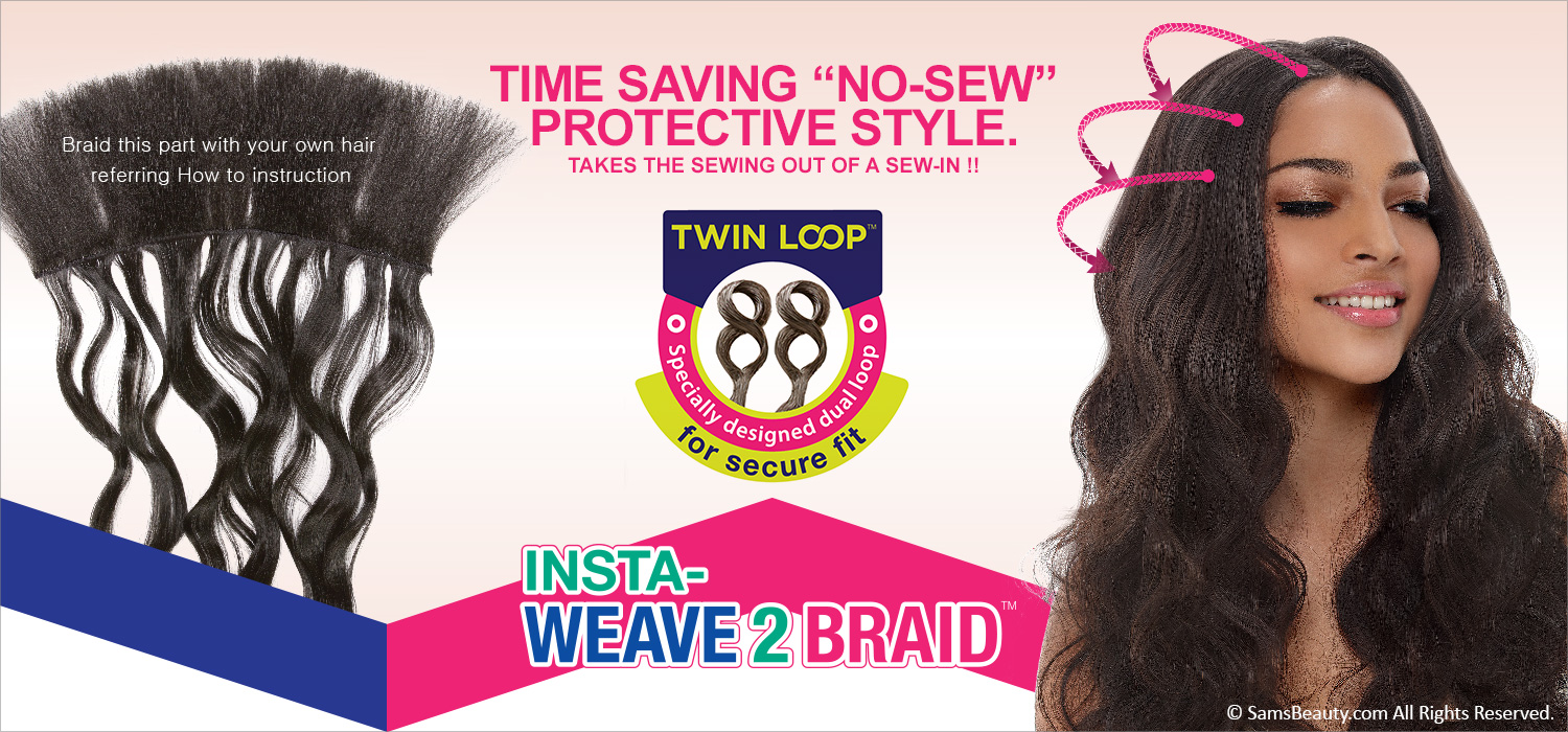 Janet Collection Synthetic Hair Braids 3x Value Pack Insta Weave 2