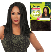 Vivica Fox Unprocessed Human Hair Braids Kinky Bulk 16 Natural Color