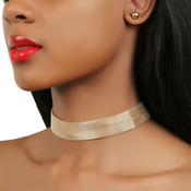 Simple Wire Choker and Earrings Set
