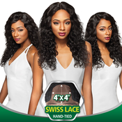 Outre Simply NonProcessed Brazilian Human Hair Lace Front Wig 4X4 Swiss Lace Natural Body