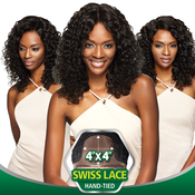 Outre Simply NonProcessed Brazilian Human Hair Lace Front Wig 4X4 Swiss Lace Natural Curly