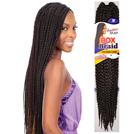 How To Style Crochet Box Braids : ... Synthetic Hair Crochet Braid Large Box Braids 20 - SamsBeauty