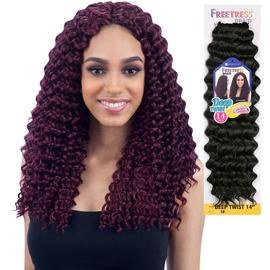 freetress synthetic hair crochet braids deep twist 14