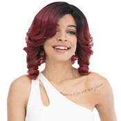 Janet Collection Synthetic Lace Front Wig Natural Super Flow Invisible Deep Part Lace Lottie